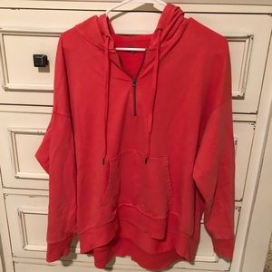 Aerie quarter zip hoodie